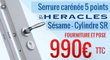 Promotion serrure carénée 5 points Héraclès Sésame