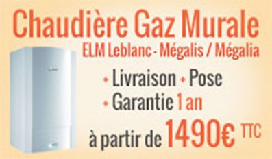 Promotion chaudière gaz ELM Leblanc