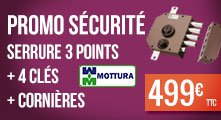 Promotion serrure Mottura 3 points