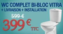 Promotion Toilette Vitra + installation