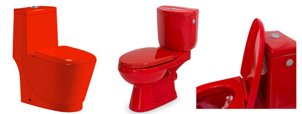 Toilettes couleur rouge, gamme Red is Dead