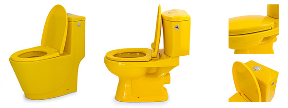 Toilettes couleur jaune, gamme Yellow Cab
